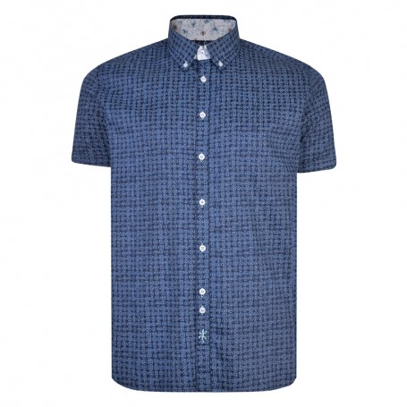 Lizard King Tile Print Short Sleeved Shirt - Denim